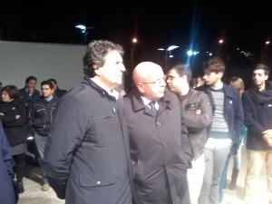 Mario Oliverio a Rossano con i giovani del PD e con i candidati del centro-sinistra (Foto Le Fosse)