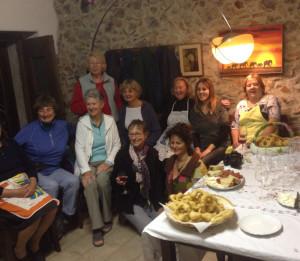 Le donne newyorkesi in visita a Civita