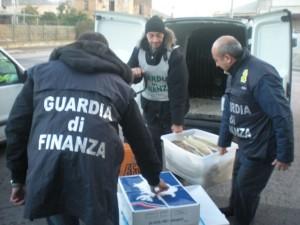 Il pesce sequestrato a Corigliano