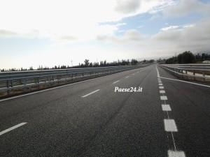Nella foto un tratto della nuova variante direzione Reggio Calabria
