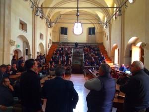 L'incontro di ieri tra l'assessore al personale Rodolfo Alfieri e i precari del comune di Rossano