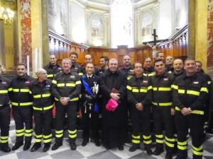 Il Vescovo Satriano Vigili del Fuoco