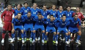 Una formazione della nazionale di calcio a 5 italiana