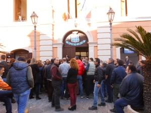 La protesta degli Lsu-Lpu a Rossano