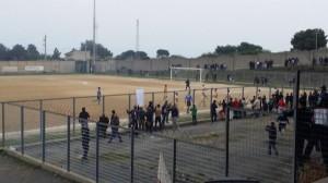 Trebisacce-Roseto 2-0 (l'esultanza dei locali dopo il secondo gol)