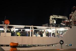 Lo sbarco della Gregoretti C920 a Corigliano