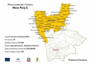 La cartina dell'area interessata dal progetto