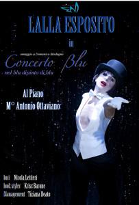 """La locandina dello spettacolo """"Concerto Blu"""""""
