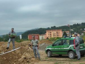 Il corpo forestale durante una delle attività volte nel territorio di Cosenza e provincia