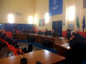 Uno dei momenti dell'assemblea dei  sindaci del Basso Jonio - Sila Greca