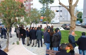 L'inaugurazione di Piazza Marconi, a Rossano scalo.