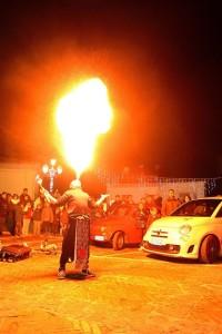 Una festa in strada organizzata dal Comune di Oriolo nel periodo natalizio