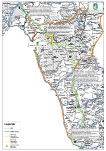 A3 - Mappa percorsi alternativi Laino Borgo-Mormanno