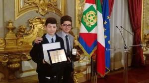 Fabio Cavaliere e Virginio Papadà, i due studenti di Cassano premiati al Quirinale