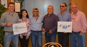 Da sinistra: Melfi (vice presid. Cioff), D'Agostino (vice segretario), Canino (segretario), Mallozzi (presidente), Ferrari (Presidente Collegio Revisori dei Conti), Carini (Presidente Collegio Probiviri)