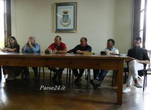 Tavolo dei relatori. Da sinistra: Cardamone, Bonifati, Lo Polito, Iannelli, Pirrera, Ferrante
