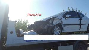 La Peugeot 206 coinvolta nell'incidente