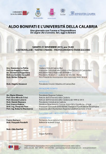 Locandina Evento cult Il Dott. Bonifati e l'Università della Calabria(1)