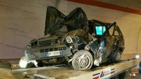 L'auto coinvolta nell'incidente