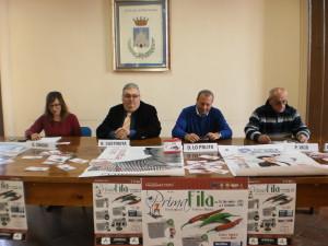 Un momento della conferenza stampa. Da sinistra: Chiodi, Castriota, Lo Polito, Vico