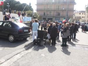 sit-in davanti ospedale Castrovillari