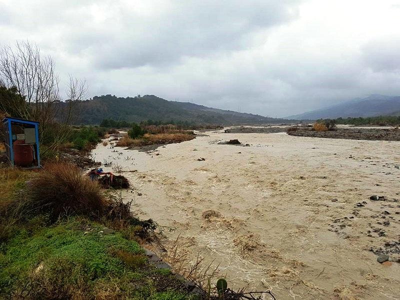 Il torrente Straface di Amendolara si mantiene tra gli argini