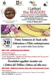 The Readers VI, II giornata,Seminario e Correlativi oggettivi - Copia