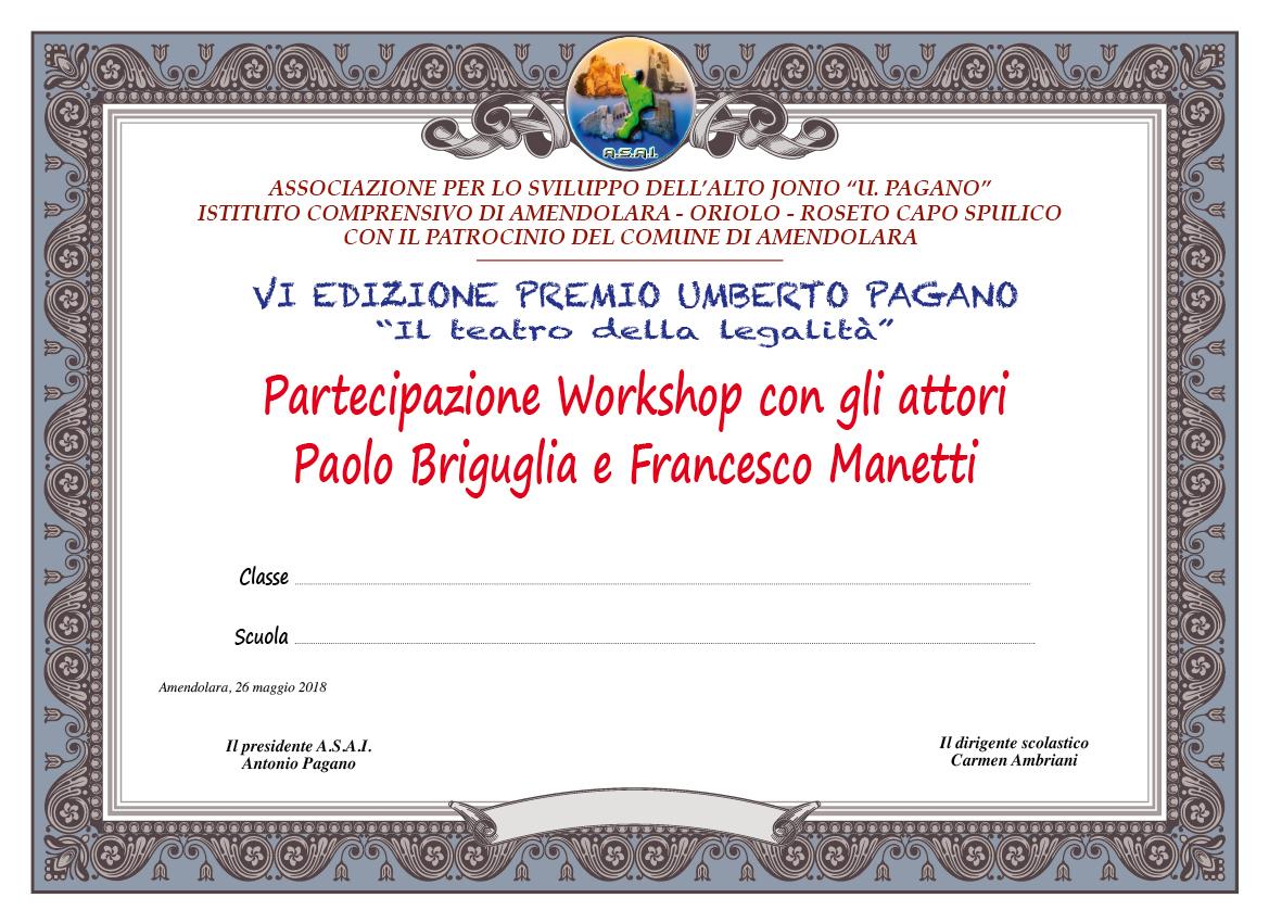 Pergamena Premio Pagano